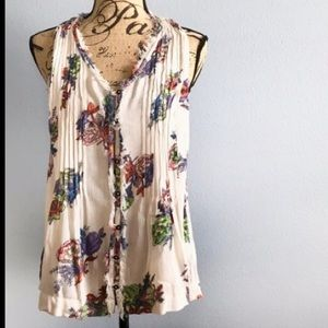 Maeve flowy Swing tank ~ white with florals!